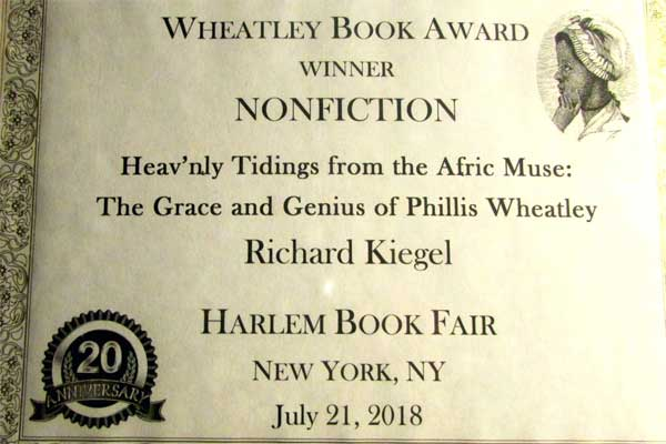 The Wheatley Book Award for Nonfiction, awarded to Richard Kigel